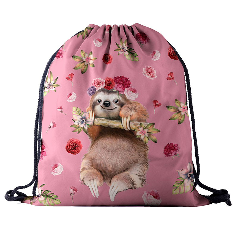 Backpack Drawstring BAGS Drawstring Fashion 3D Printing Animal Travel Softback Men Bags UNISEX Women's Shoulder Bag Knapsack New