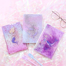 Creative oil sands hand book cute mermaid book cover notebook notebook with diary book creative password book notebook with notebook diary multifunctional sprout hand book stationery book notepa
