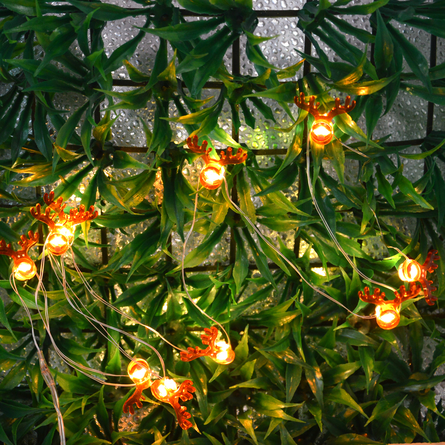 Garland Led String Light 1M  2M  Deer Lantern Fairy Strip Lights Decorations For Holidays, Festival And Christmas Decorations