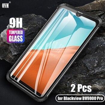 Перейти на Алиэкспресс и купить 2 шт закаленное стекло для Blackview BV9800 Pro стекло протектор экрана 2.5D 9H стекло для Blackview BV9800 профессиональная защитная пленка