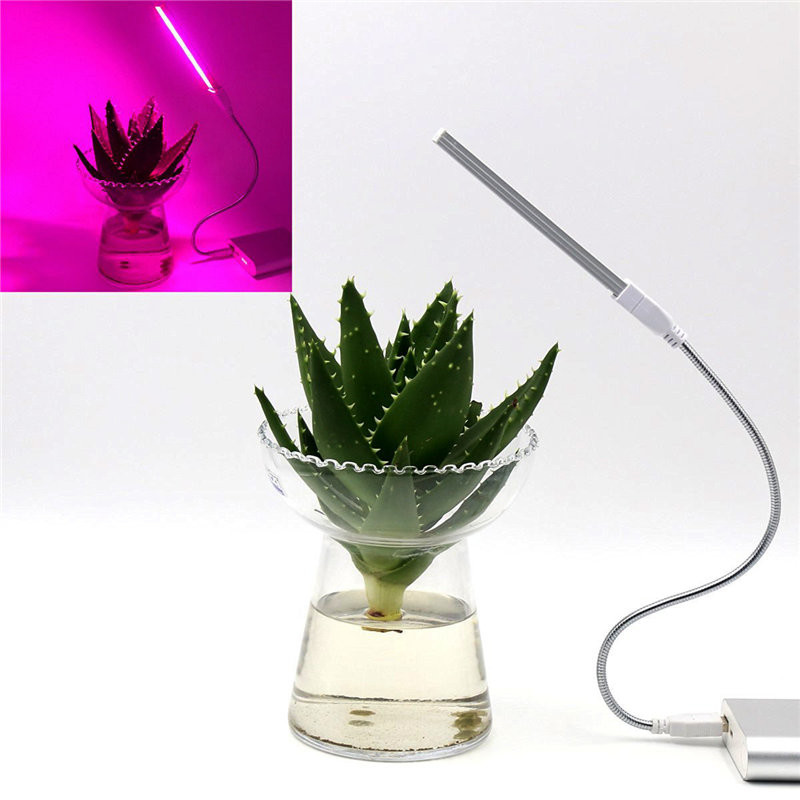 1pcs 3W/14LED Grow Light USB Red & Blue Hydroponic Plant Growing Light Bar For Desktop Plant Flower Growing Support Dropship