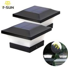 T SUNRISE Solar Licht Hek Licht IP65 Outdoor Solar Lamp Voor Tuin Decoratie Gate Hek Muur Binnenplaats Cottage Solar Lamp