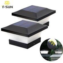 T SUNRISE güneş ışığı çit ışığı IP65 açık güneş lambası bahçe dekorasyon için kapı çit duvar avlu yazlık güneş lambası
