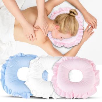 Poduszka do masażu podróż samolot powietrze nadmuchiwane poduszki pod kark przód samochodu szyja dmuchana poduszka do wypoczynku do snu masaż relaksacyjny tanie i dobre opinie TMISHION CN (pochodzenie) BODY Massage Pillow Bawełna ABS Masaż i relaks