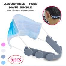 5 sztuk/partia maska uchwyt trzeci bieg regulowany antypoślizgowa maska ucha uchwyty rozszerzenie hak maski klamry uchwyt akcesoria do domu