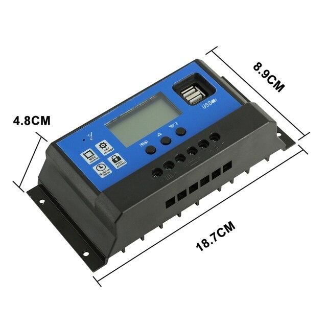 ШИМ контроллер заряда солнечной батареи с ЖК дисплеем двойным