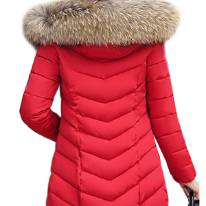 Image 5 - 2019 Winter Women Down Jackets Warm Parka Inflatable Coats With Fur Collar Hooded Female Winter Clothes Fashion Thick Outwear