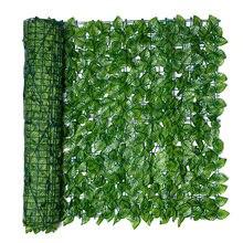 Panneau de clôture de jardin à feuilles artificielles, rouleau de criblage de clôture de jardin à feuilles artificielles, protection contre la décoloration UV, clôture de confidentialité, mur d'aménagement paysager de lierre