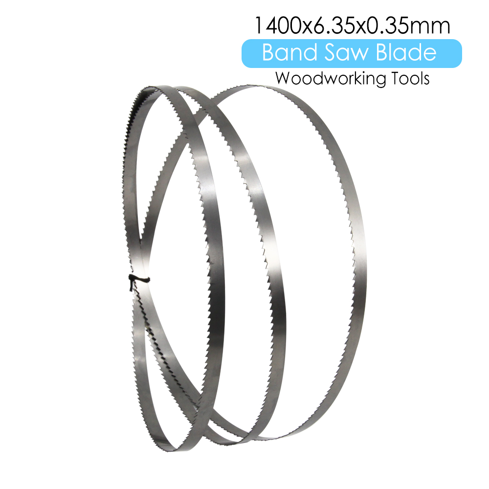 1 × Wood Band Saw Bandsaw Blade 1400 X 6.35 X 0.35mm Woodworking Tools Accessories For Fox Draper Einhell Charnwood TPI 6 10 15
