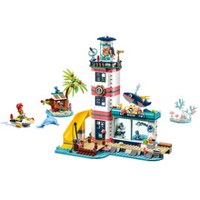 Girl Toys Lighthouse with Floodlight Compatible Legoines Friends 41380 Building Blocks Figure Bricks Christmas for Children Gift waz compatible with lego friends 41150 25003 322pcs building blocks moana s ocean voyage bricks figure toys for children