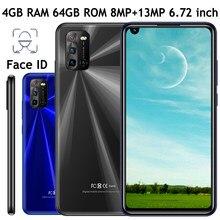 Face id 7a 4g ram + 64g rom original android frente/câmera traseira smartphones globais 8mp + 13mp 6.72