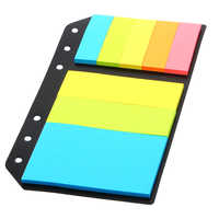 6 Holes Binder Sticky Notes A5A6 Planner Accessory Colored Office School Supplies Planner Spiral Filler Papers