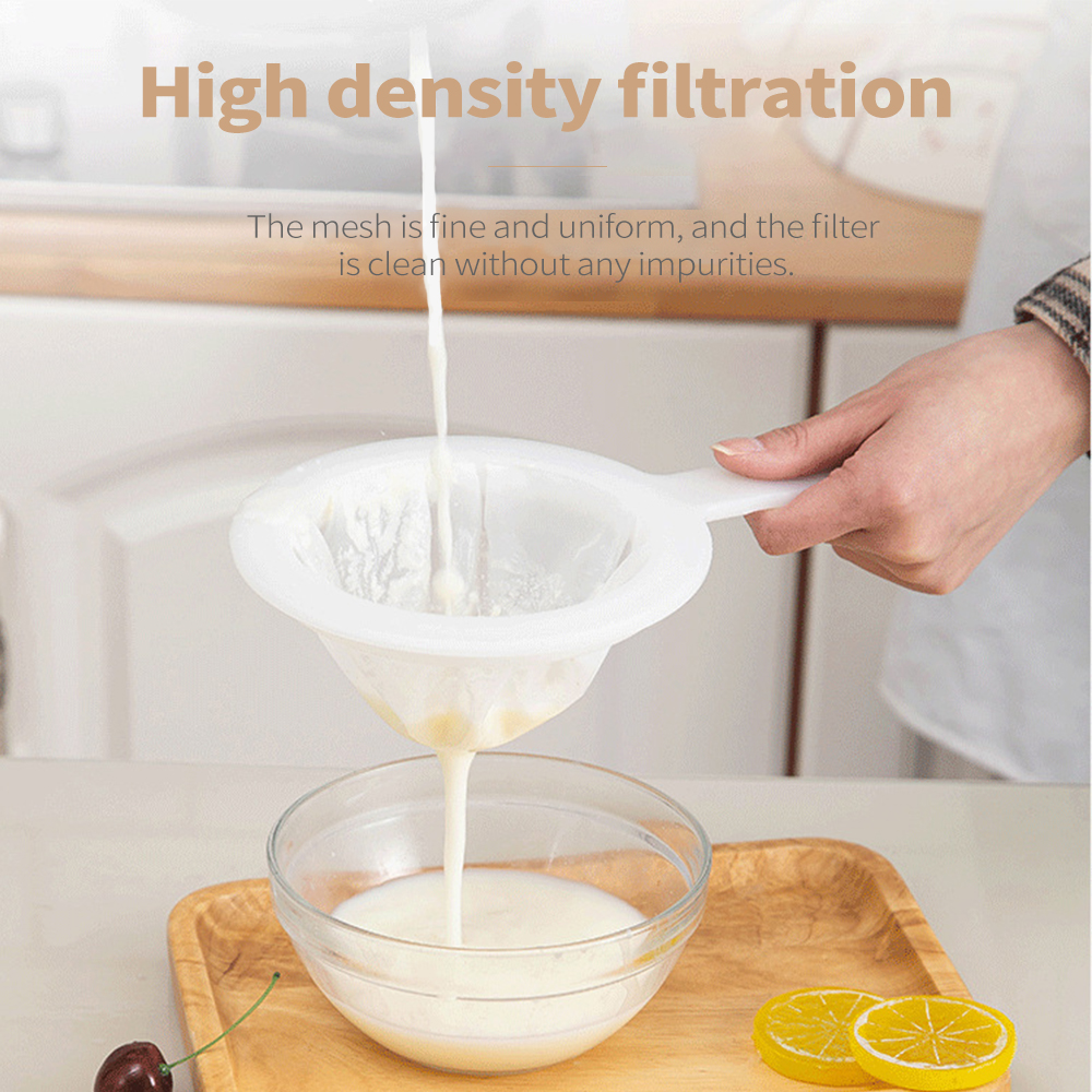 Multi-Function Household <font><b>Kitchen</b></font> Soybean Milk Filter Residue Juice Filter Reusable Nylon Super Fine Colander Sieve <font><b>Kitchen</b></font> <font><b>Tool</b></font> image