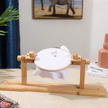 Cross Stitch Holder Wooden Rack Adjustable Stand Desktop Embroidery Frame Assistant - discount item  30% OFF Arts,Crafts & Sewing