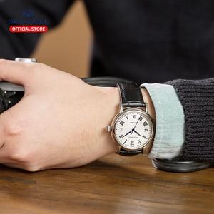 Image 5 - 2019 חדש שחף עסקי שעון גברים מכאני שעון 50 מטרים עמיד למים עור אופנה גברים של שעון 819.368
