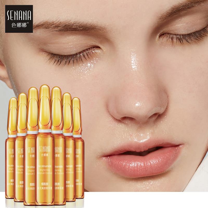 SENANA Face Serum Hyaluronic Acid 24k gold Nicotinamide Ampoule Anti Aging essence Shrink pores Whitening Moisturizing