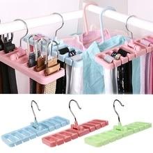 8 cassette hanger multi-function storage rack tie storage bag rotating tie scarf rack bracket wardrobe plastic finishing shelf