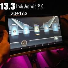 2020 encosto de cabeça do carro 13.3 Polegada tela hd 1080p dvd player suporte wifi/hdmi/usb/tf/bt ram 2gb definir logotipo app baixar android 9.0