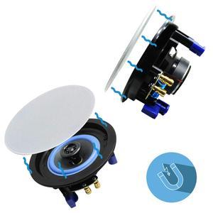 Image 4 - Herdio 4 Inches Bluetooth Ceiling Speakers  Kit Bathroom Wireless Bluetooth Amplifier Water Resistant Ceiling Speakers (2 Way)