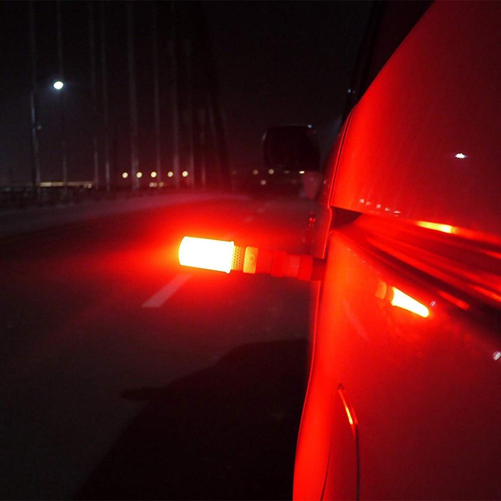2019 2PCS LED Emergency Roadside Flashing Flares Safety Strobe Light Road Warning Light Beacon Magnetic Base Detachable Stand