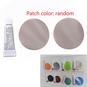 Glue Swimming PVC Adhesive Inflatable Repair Glue Tube Patch Kit For Boat Pool Yoga Ball Swim Ring Toys With 2 Circular Patch image