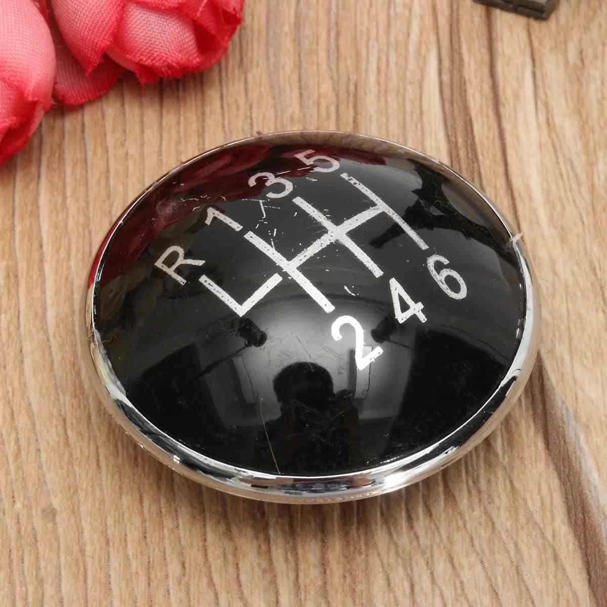 5 Speed 6 Speed Zwart Pookknop Emblem Badge Cap Fit Voor Volkswagen Golf V MK5 2003-2009