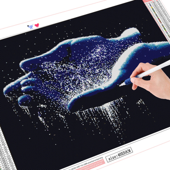 HUACAN 5D DIY Diamond Painting Full Square Round Waterfall Diamond Embroidery Sale Landscape Craft Kit