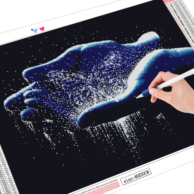 HUACAN 5D DIY Diamond Painting Full Square Round Waterfall Diamond Embroidery Sale Landscape Craft Kit Home