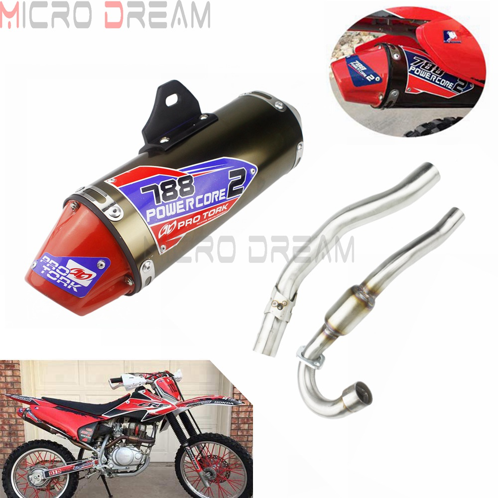 For Honda CRF150F CRF230F 2003-2016 03-16 Complete Muffler Exhaust Pipes Dirt Bike Motocross CRF Exhaust Pipe Full System Kit
