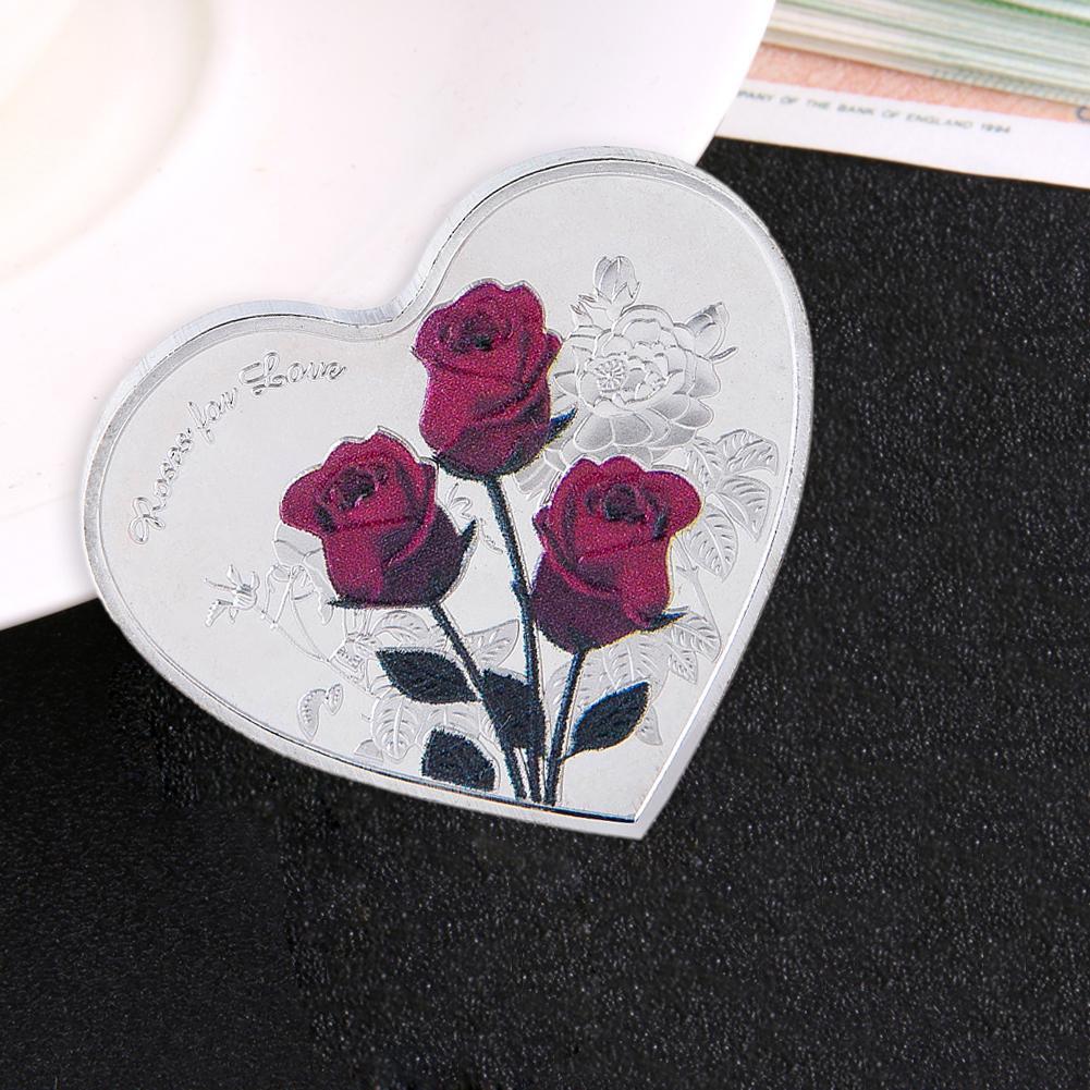 1 шт., игра I Love You, имитирующая День Святого Валентина, 38 мм, любовь, сердце, роза, памятное украшение из монет