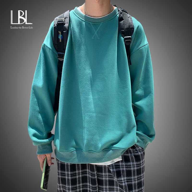 LBL Harajuku Mit Kapuze Sweats Männer Langarm Frühling Frauen Kleidung Teens Mädchen Lustige Solide Hip Hop Übergroßen Hoodies Sweatshirts
