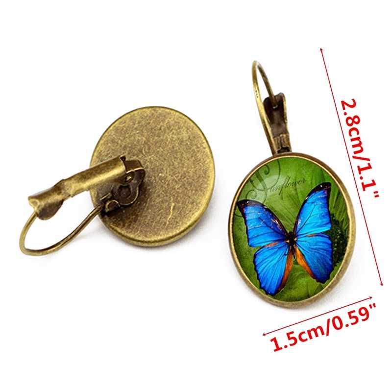 Bohemia Vintage kolczyki dla kobiet biżuteria Exquisited geometryczny kwiat wzór motyl okrągły dynda kolczyki Bijoux