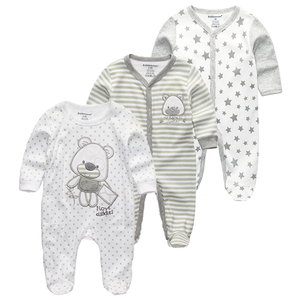 Image 3 - Newborn Baby winter clothes 2/3pcs baby boys girls rompers long Sleeve clothing roupas infantis menino Overalls Costumes