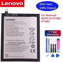 2020 100% bateria original bl265 para lenovo xt1662 bateria para motorola moto m xt1662 xt1663 3000mah batterie + ferramentas gratuitas