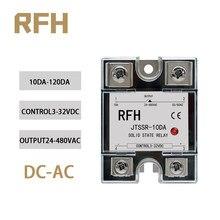 SSR-10DA à courant alternatif monophasé 25DA 40DA 60DA 80DA 100DA 120DA relais à semi-conducteurs