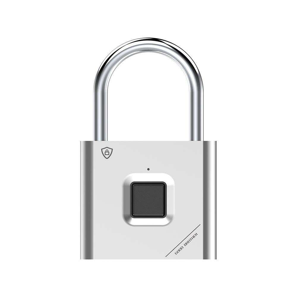 Thumbprint Door Padlocks Rechargeable Door Lock Fingerprint Smart Padlock Quick Unlock Keyless USB 2