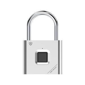 Image 2 - Thumbprint Door Padlocks Rechargeable Door Lock Fingerprint Smart Padlock Quick Unlock Keyless USB