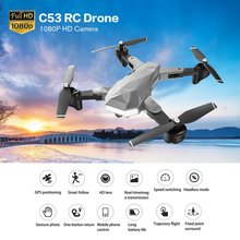 2019 New Quadcopter C53 GPS Drone With 1080P HD Camera 5G WIFI FPV RC Foldable Professional Helicopter RC Drones Toy For Kids