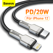 Baseus PD 20W USB 유형 C 케이블 (iPhone 12 용) 11 Pro Max X Xr Xs 18W 고속 충전 충전기 USBC 케이블 (iPad Type C 데이터 코드 용)