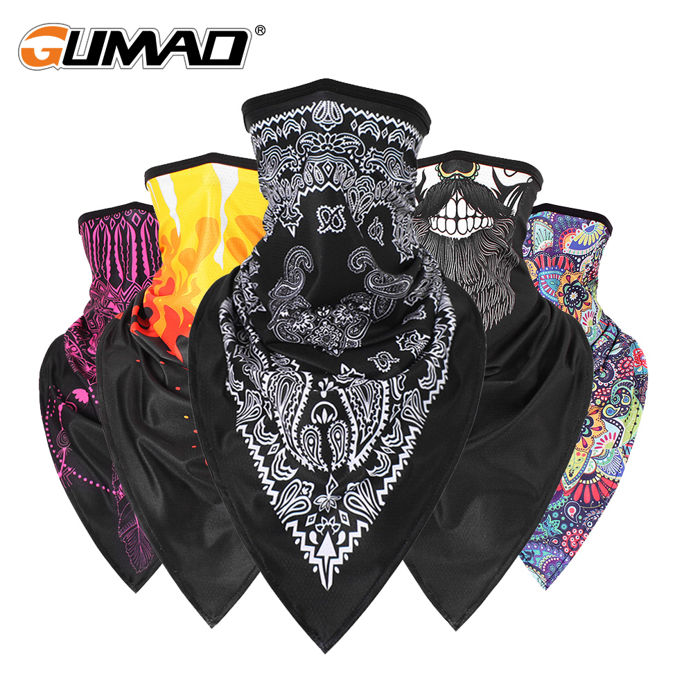 Sport Anti-UV Bandana Triangle Face Mask Magic Ski Tube Scarf Fishing Cycling Running Hiking Neck Gaiter Cover Headband Men Girl