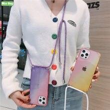 Luxo gradiente glitter caso de telefone para v20 pro v20 se y20i y20 y12s y11s y73s y70 s7 5g transparente macio telefone capa traseira