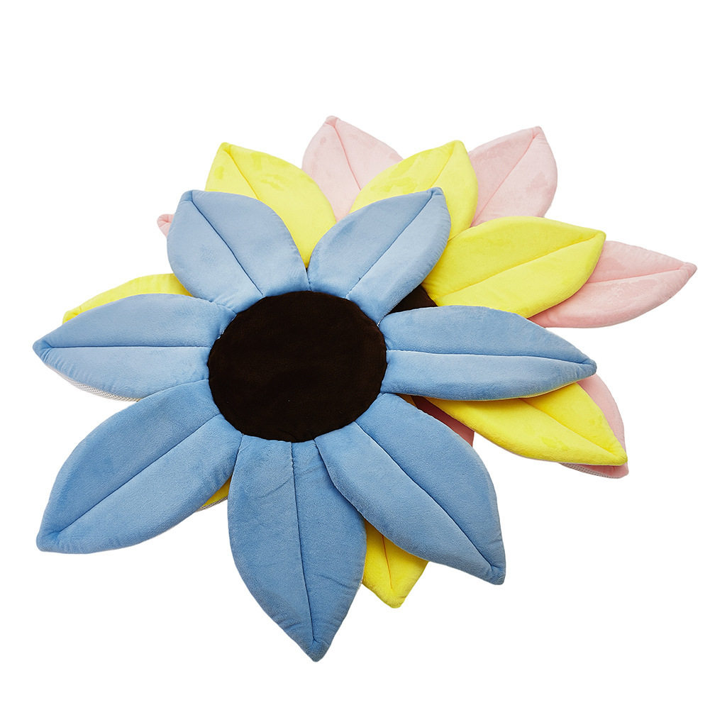 2020 NEW Arrived Kid Play Game Mats Round Carpet Rugs Flower Baby Sunflower Play Mats Infant Crawling Blanket Plush Carpet