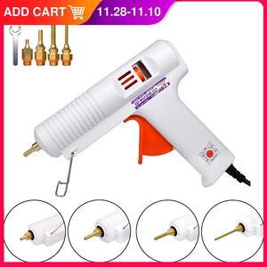 Image 1 - 150W 100W EU Plug Hot Melt Glue Gun Professional High Temperature Adjustable Graft Repair Tool Electric Heat Gun DIY Thermo Tool