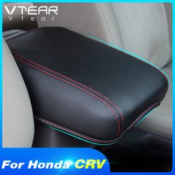 Vtear For Honda Crv Armrest Cover Interior Center Console Box Seat Case Pu Leather Protection Interior Parts Accessories 2012