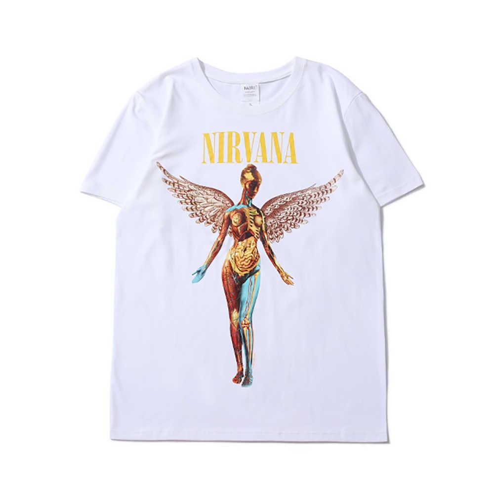NAGRI degli uomini di Estate T-Shirt Nirvana Grafici Magliette Casual Manica Corta Retro Hip Hop T Shirt Fashion Street Abbigliamento