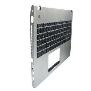 Image 2 - Nouveau nouveau clavier dordinateur portable lunette pour ASUS N56 N56V N56VM N56VZ N56SL argent Topcase Palmrest boîtier supérieur C coque rétro éclairage