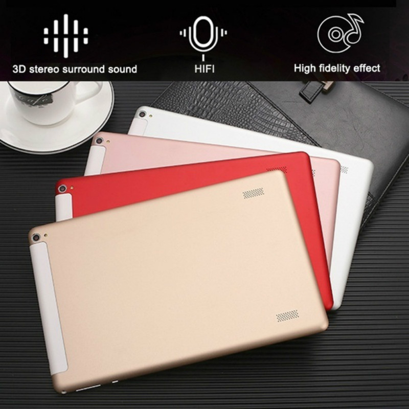 Newest WiFi Tablet PC 10.1 Inch Ten Core 4G Network Android 8.0 Dual SIM Dual Camera  Call Phone Tablet Gifts(RAM 6G+ROM128G)