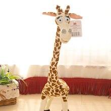 Coussin en peluche girafe de Madagascar, jouets en peluche, animaux de la forêt debout, motifs exquis, Expression mignonne, oreiller de literie pour enfants