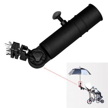 Uniwersalna moda wygodne plastikowe Push Pull Bike Cart wózek samochodowy Golf stojak na parasole łatwe w użyciu narzędzia połowowe czarny tanie i dobre opinie Golf Trolley Umbrella Holder Stand Plastic approx 22 5cm(8 85 ) can be adjusted up to 24 5cm(9 64 ) Black