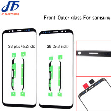 1pcs Touch panel Replacement For Samsung Galaxy S8 G950 G950F / S8 + plus G955 black Front Outer Glass Lens With Sticker(China)